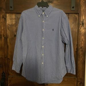 Polo By Ralph Lauren Blue/White Long Sleeve Large